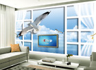 3D White Seagull 52 Wallpaper Murals Wall Print Wallpaper Mural AJ WALL AU Lemon