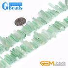 """4x27mm Natural Quartz Dyed Color Stick Point Beads for Jewelry Making Strand 15"""""""