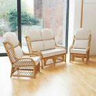 Cadiz Cane Conservatory Furniture Suite Set with Luxury High Back Cushions