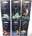Sealife Keyring Soft PVC Dolphin Crab Octopus Fish Shark