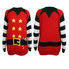 Womens Mens Ladies Xmas Christmas Jumper Novelty Elf Crew Neck Sweater S - XXL