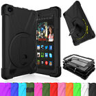Hybrid Rubber Shockproof 360 Stand Rugged Case For Amazon Kindle Fire 7 5th Gen