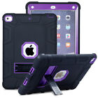 For Apple iPad Mini 123 4 Hybrid Rugged Rubber Shockproof Stand Hard Cover Case