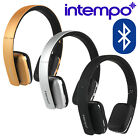 INTEMPO BLUETOOTH WIRELESS HEADPHONES WDS19 GOLD SILVER BLACK 4.2 - NEW