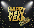 HAPPY NEW YEAR 2018 Holiday Anti Slip Ultra Thin PC Gamer Pictorial Mouse Pads
