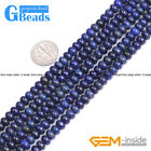 """Blue Lapis Lazuli Rondelle Spacer Beads For Jewelry Making Free Shipping 15"""""""