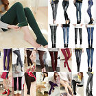 Women Warm Winter Leggings Fleece Lined Thermal Thicken Skinny Slim Demin Pants