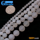 White Frost Agate Gemstone Matte Round Beads For Jewelry Making Free Shipping