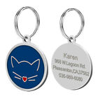 30mm Personalized Engraved Pet Cat Tag Dog Name Tags Disc Engraved for Free