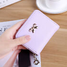 Womens Leather Small Mini Wallet Card Holder Zip Coin Purse Handbag Cindy Color