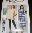 MCCALLS 7596 0544 Loose Pullover Dress Caftan Tunic Pattern 4-14 OR 16-26