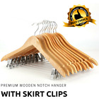 Adult Wooden Clothes Hangers With Peg, Clip Perfect For Dress, Suit, Trousers <br/> Hang your Trouser, Skirt &amp; Dresses With Out Creasing!