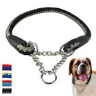 Rope Rolled Big Dog Choke Collars for Large X-Large Dogs Pitbull Heavy Duty