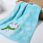 Christmas Embroidery Cute Snowman Pine Nuts Pattern Soft Cotton Bath Towels