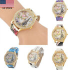 Women WristWatch Quartz Wrist Watch  Pu Leather Rhinestone Eiffel Tower US image