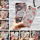 Cute Cartoon Clear Girl Relief Flower TPU Soft Case For iPhone X 8 7 6s Plus 5s