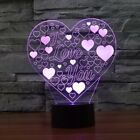 Valentine's Day Love Gift Creative Touch Desktop Lamps 3D Acrylic Novelty Light