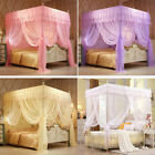 Princess Lace Flower Four Corner Post Bed Canopy Mosquito Netting All Sizes