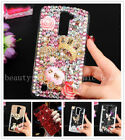 protective case for samsung galaxy s4 active - Bling Luxury 3D Handmade Protective Clear Rhinestone Back Case Cover For iPhone