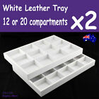 Jewellery Tray Display WHITE | 2pcs | 12 or 20 Compartments | AUSSIE Seller