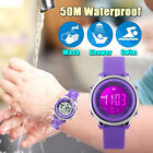 Fashion Unisex Rubber Waterproof Wrist Watch For Adult Boys Girls Kid Gift