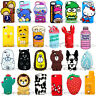3D Cute Cartoon Silicone Soft Back Phone Case Cover For IPhone  X 6/7/8Plus 5/SE