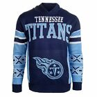 Forever Collectibles NFL Men's Tennessee Titans Big Logo Hooded Sweater, Navy