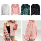 Sexy Women Girls Warm Faux Fur Jacket Short Coat Elegant Coat Outwear S-3XL US