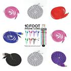 "USB Charger Cable Cord For iPod iPhone""s  5 6 7 Great For Travel Many Colors"
