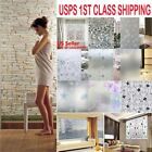 Waterproof Frosted Cover Glass Window Floral Flower Sticker Film Bedroom Door US