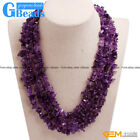 Handmade Multi-strands Chips Cluster Statement Fashion Long Necklace 17-20 Inch