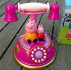 Pink Peppa Pig Phone Toys Electronic Interactive Learning Music Lights Gift+Box