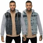 Loyalty & Faith Mens Casual Ripped Denim Hooded Jersey Fleece Sleeves Jackets