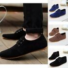 brown suede driving shoes - US Men's Casual Shoes Suede Lace up Driving Moccasins Running Sneakers  Loafers