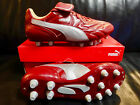 Puma King Top City DI FG/K-Leder/rot/silber/Grö�e 42/10369804