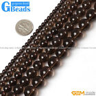 Natural Stone Smoky Quartz Round Beads For Jewelry Making Free Shipping 15""