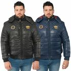 Santa Monica Polo Club Big Mens Jacket Plus Size Padded Puffer Hooded Coat