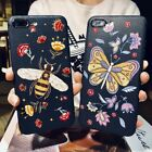 For iPhone X 8 7 6 plus Case Fashionable Butterfly Bee Pattern Soft Back Cover