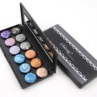 Eyeshadow Glitte Palette Shimmer Stripe Color Baked Smoky Eye Shadow Powder GIFT