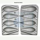 Aluminium mould for 4 hexagonal bomb weights, 4 in 1 mould, Carp distance leads