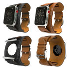 For Apple Watch Series 2 3 iWatch 38mm 42mm Leather Strap  Band