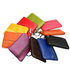 Trendy Women Mini Leather Zip Coin Key Ring Party Wallet Pouch Bag Purse Walllet
