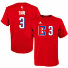 adidas Chris Paul LA Clippers Youth Red Game Time Flat Name & Number T-Shirt