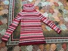 Velvet Graham & Spencer ANTHROPOLOIGE Red NORDIC LAMBSWOOL SILK SWEATER SZ P S