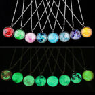 Full Fluorescent Rising Moon Pendant Necklace Glow In The Dark Luminous Chain