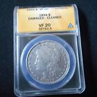 1894 P MORGN SILVER DOLLAR ANACS VF 20 DETAIL CERTIFIED  KEY DATE 110K MINTED
