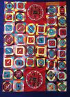 Large Peruvian Arpillera Folk Art 3-D Tapestry Quilt with Frogs & Snakes 62 x 43
