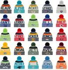 NEW ERA 2017-18 SPORT KNIT NFL Onfield Sideline Beanie Winter Pom Knit Cap Hat $16.95 USD on eBay