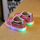 UK Kids Toddler Baby Girl Sequins LED Li...