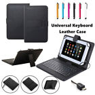 US Black Leather Stand Case Cover Micro USB Keyboard For 7
